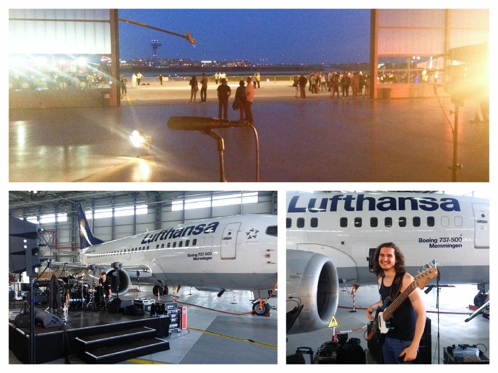 Mit JJFetzerandFriends bei Lufthansa auf dem BER Gelände