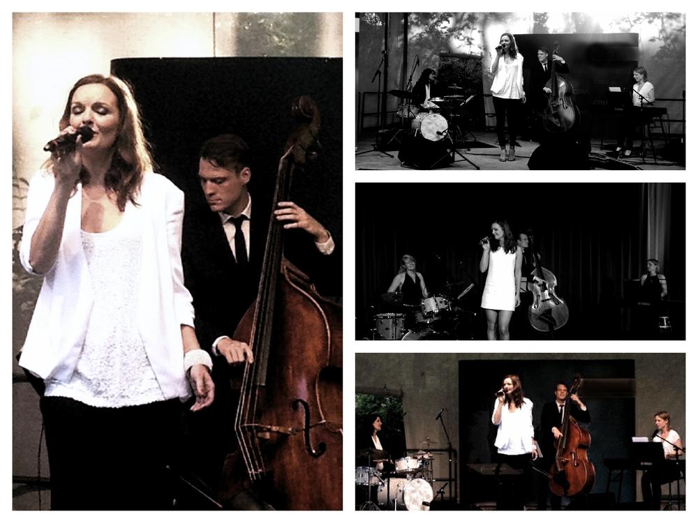 Iza Höll mit der Jazz Band Fourluxe