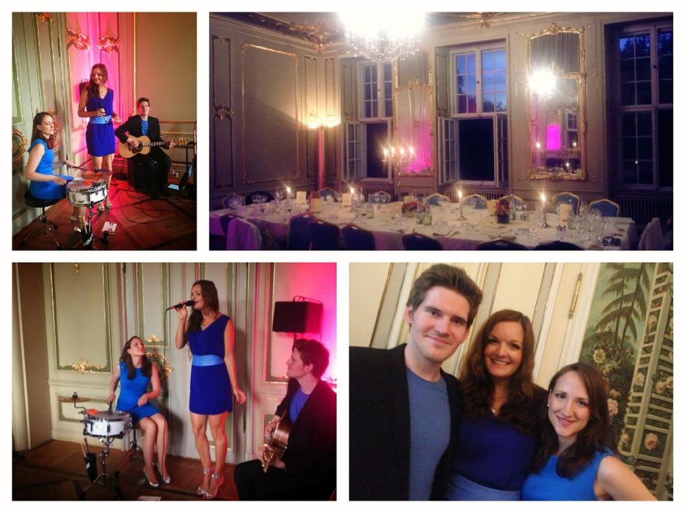 Die Pop-und Jazz Band Sunset Orange beim Gala-Dinner