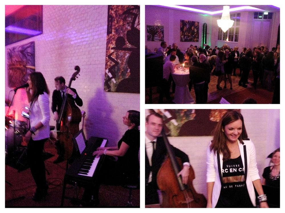 Die Jazz Band Fourluxe mit Iza Höll in den Sarotti Höffen in Berlin
