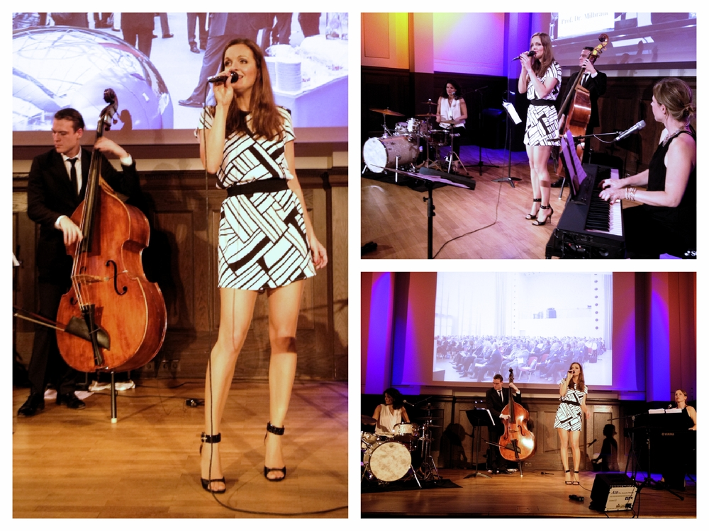 Die Jazz Band Fourluxe mit Iza Höll im Meistersaal in Berlin