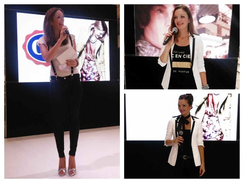 Moderatorin und Sängerin Iza Höll bei Fashion-Events Herbst/Winter 2014/2015