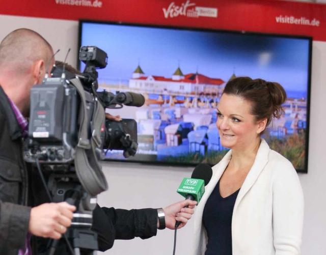 Deutsch polnische Moderatorin Iza Höll in Posen  Foto: Mariusz Cieszewski