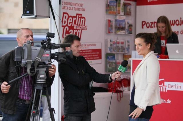 Deutsch polnische Moderatorin Iza Höll  Foto: Mariusz Cieszewski