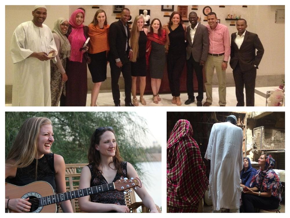 Frauenband Sunset Orange in der Deutschen Botschaftsresidenz in Khartoum, Sudan