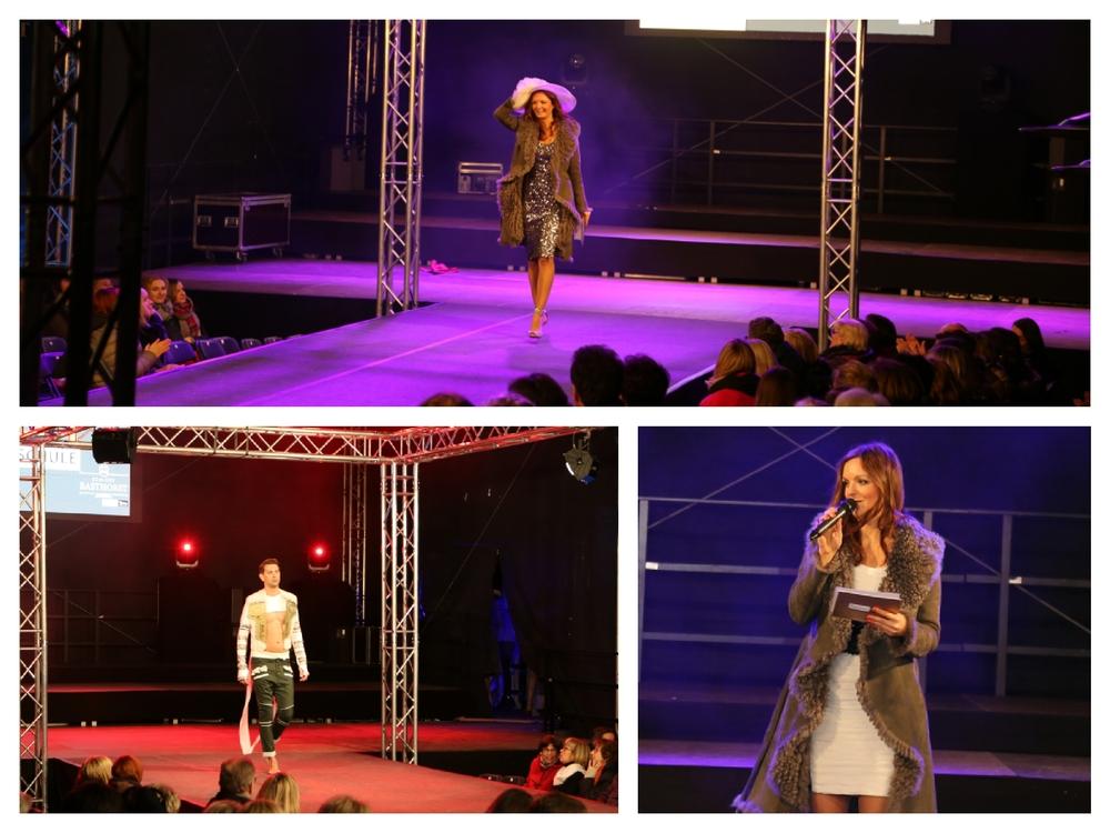 Modreatorin und Sängerin Iza Höll bei der Fashion Night Schwerin