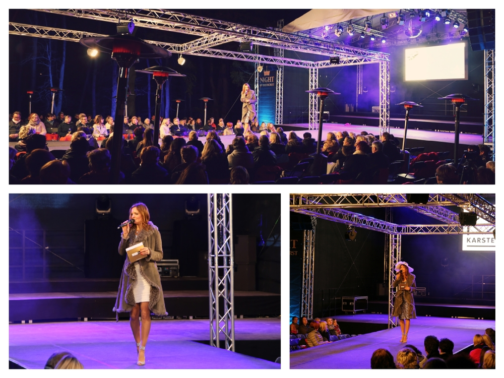 Moderatorin Iza Höll bei der Fashion Night im Rahmen der Basthorster Königstage