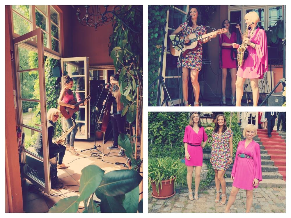 Frauen Live Band Sunset Orange aus Berlin bei einer Hochzeit im Haus Tornow am See