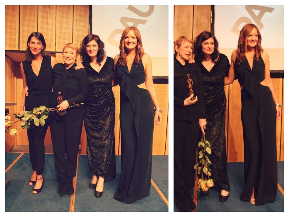 Vocal Trio ISANI mit der Preisträgerin Dagmar Manzel