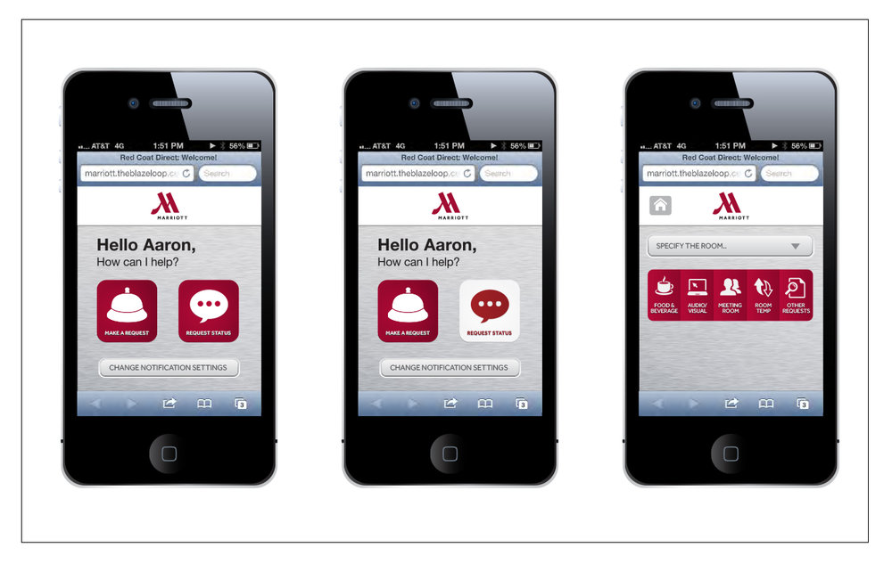 Marriott Red Coat Direct Smartphone App — Cecilia Hersh