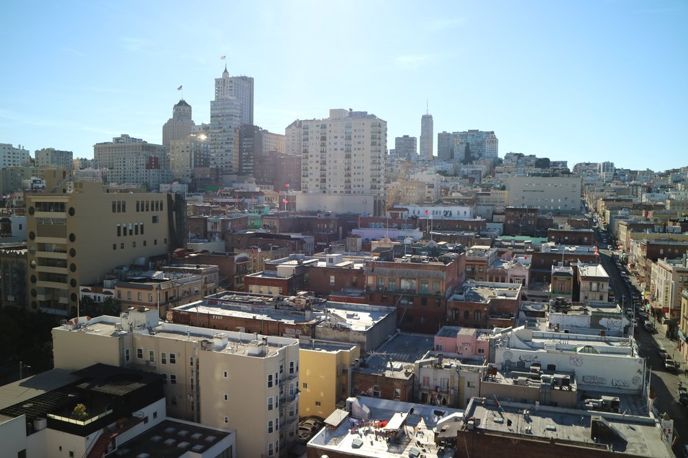 San Francisco's Chinatown from the top of the International Hotel Manilatown Center taken by Vipul Chopra.