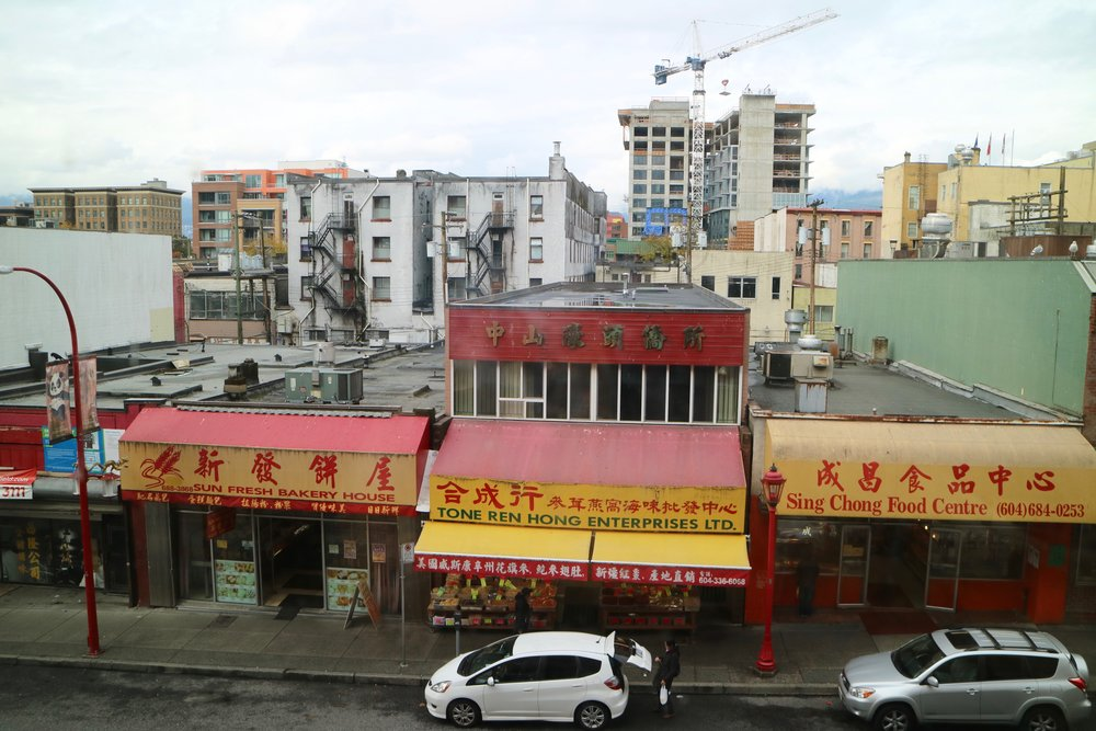Vancouver's Chinatown cityscape and encoraching development taken by Vipul Chopra