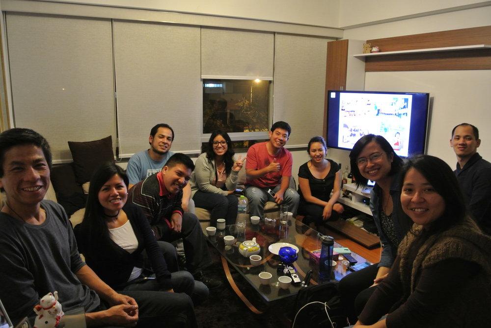 與秘魯華人年輕人聚會,並分享紐約唐人街經驗。利馬,秘魯 /攝影 Jorge Augusto Chang