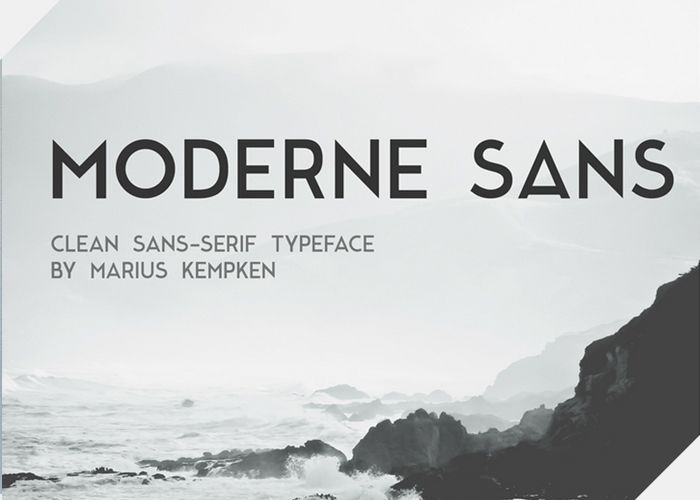 Moderne Sans Was Created By Graphic Designer Marius Kempken Is A Free Font Inspired 1920s Typography Comments On Behance
