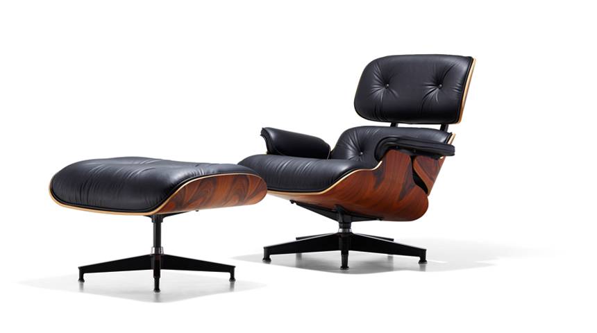 "The Eames Lounge Chair. You've probably seen this all over TV. I was watching ""Celebrity Game Night"" (hilarious, by the way) a few nights ago and they had one. One of the players carelessly jumped on the footstool. I cringed a little."