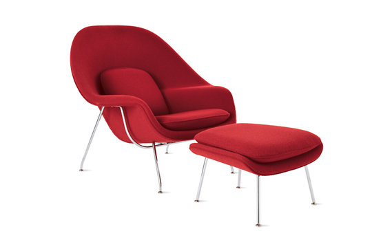 Saarinen Womb Chair. The name of this made me a little uncomfortable at first. Until I sat in one. And then I understood. Knoll makes kid versions of these. They are the cutest things ever and I need one.