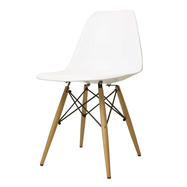 Eames Shell Chair. This comes in many colorful side chair and arm chair versions, in addition to the rocker (see below), which is my personal favorite.