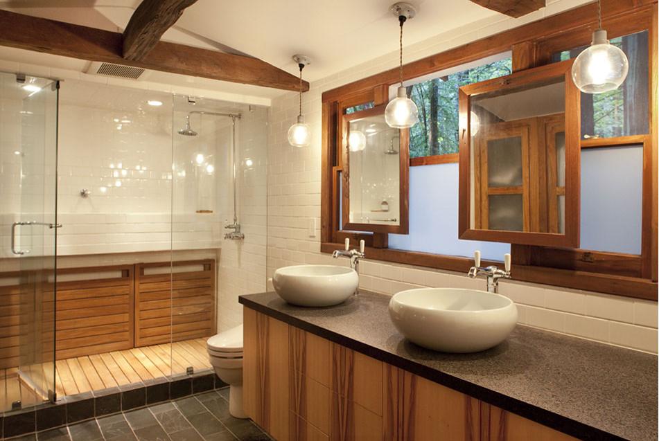 teak shower floors — 3A DESIGN STUDIO
