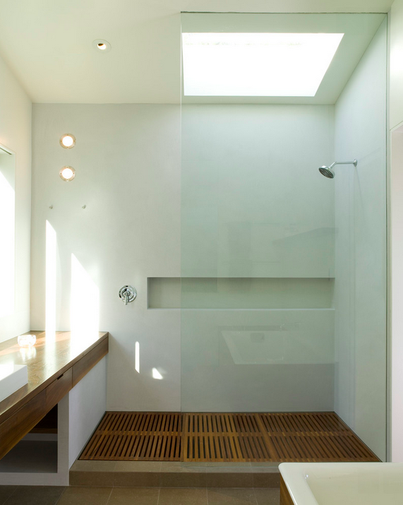 Take a look at some of these examples (most of them are very modern spaces,  but there is no reason you couldn't have a teak shower floor in a  traditional ... - Teak Shower Floors €� 3A DESIGN STUDIO