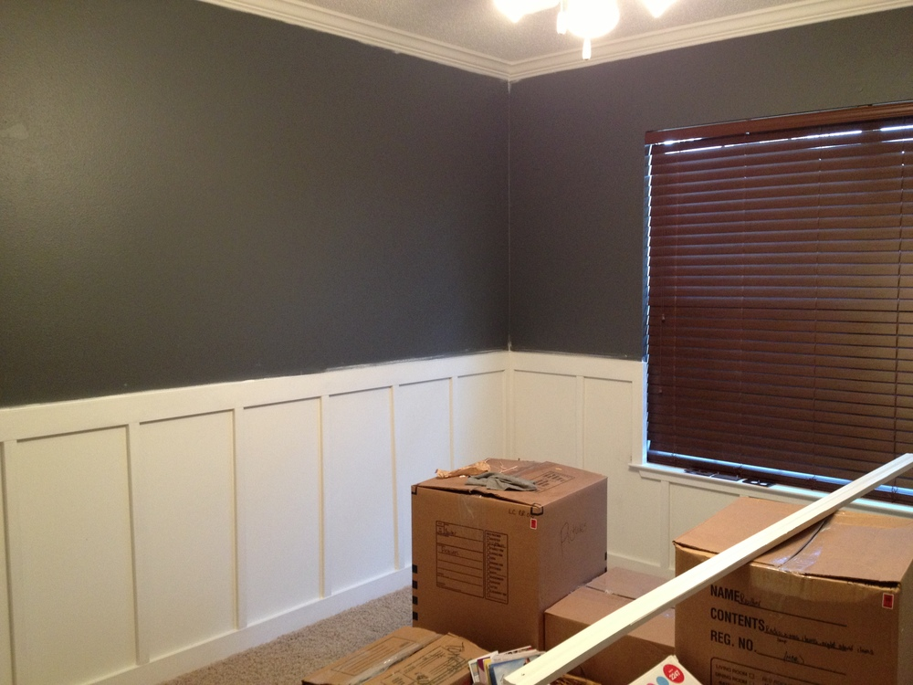 Wall color: Benjamin Moore Charcoal Slate