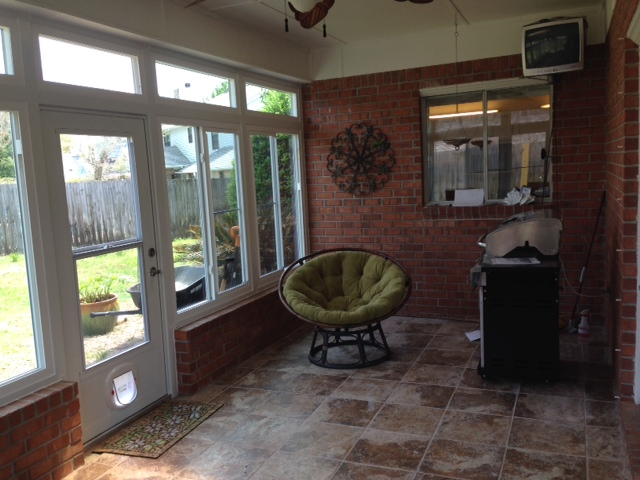 sunroom before