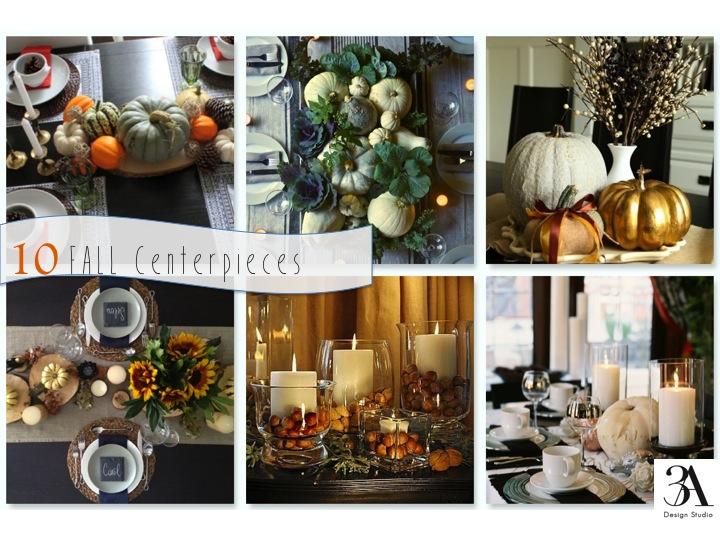Fall centerpiece ideas — a design studio