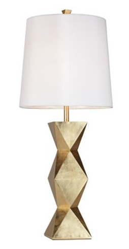 ripley gold sculptural lamp