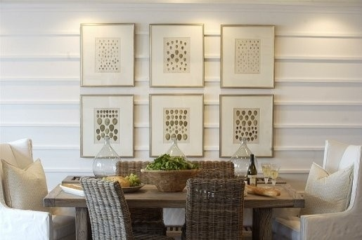 Horizontal trim boards are a great added detail to this dining room.