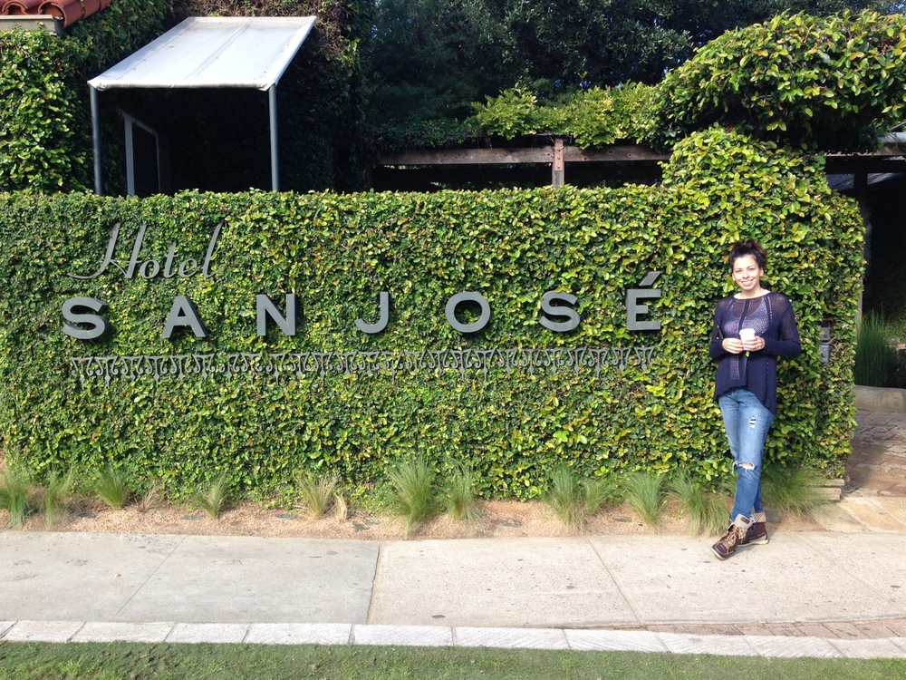 I'm such a nerd. I had to get a picture with the sign and take a tour of the hotel. By the way, Austin has some of the coolest landscaping.