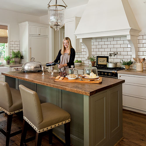 image via  Southern Living , kitchen designed by Melanie Pounds