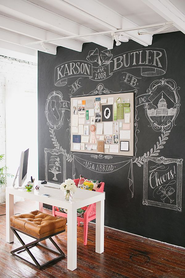 Karson Butler Events' clever workspace via  Inspired by This