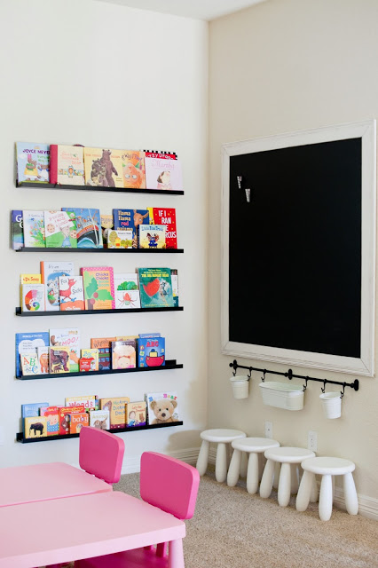 Preschool learning corner via  The Sweatman Family Blog