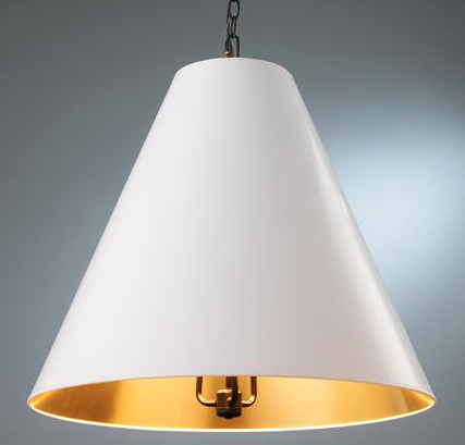 oversized cone shade pendant