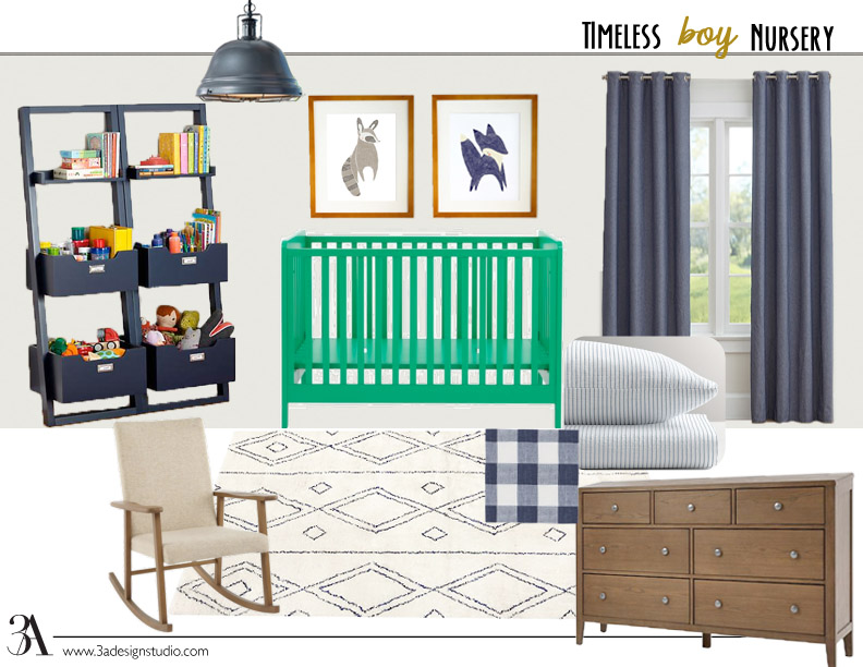timeless boy nursery design