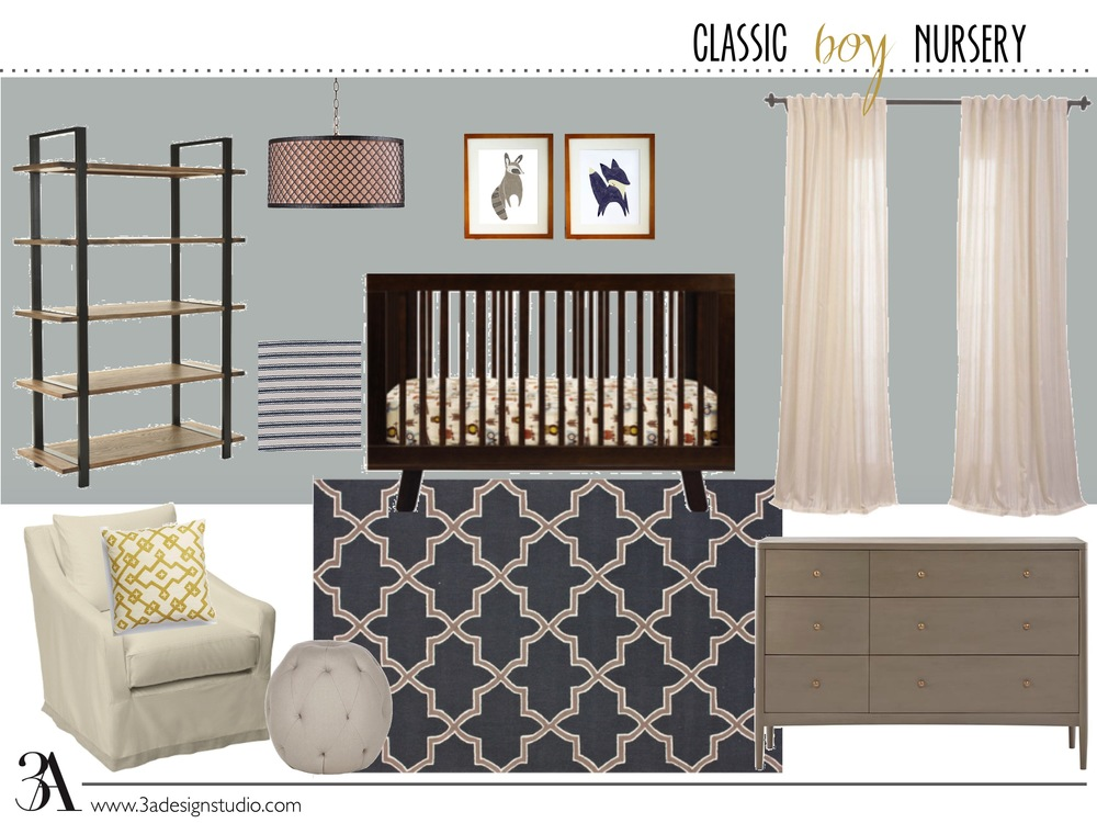 classic boy nursery by 3a design studio pattern nursery