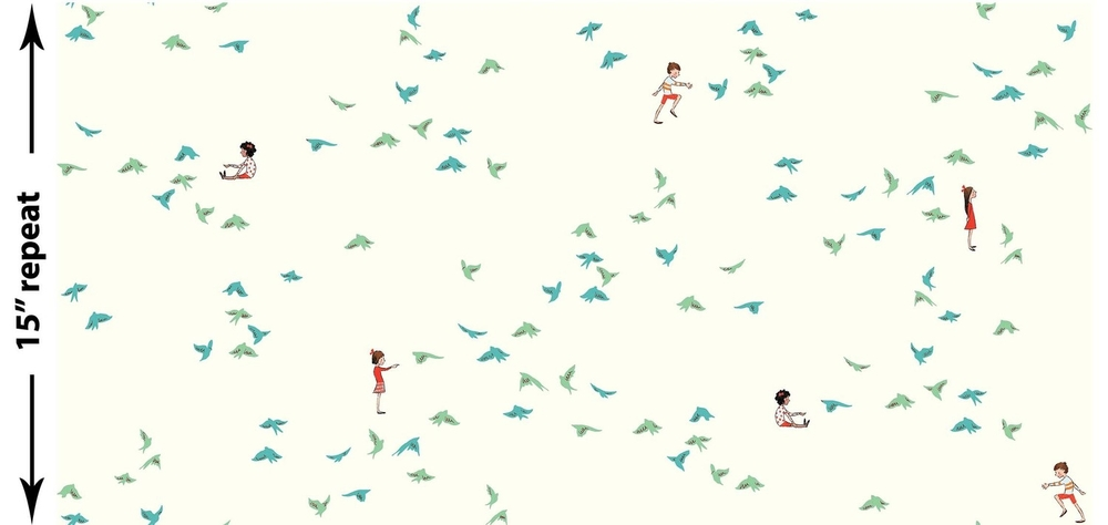 michael miller fabrics: wee wander, with the birds