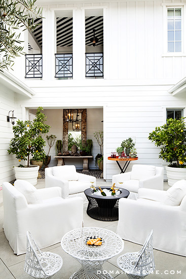 Kourtney Kardashian's patio for Domain Home.