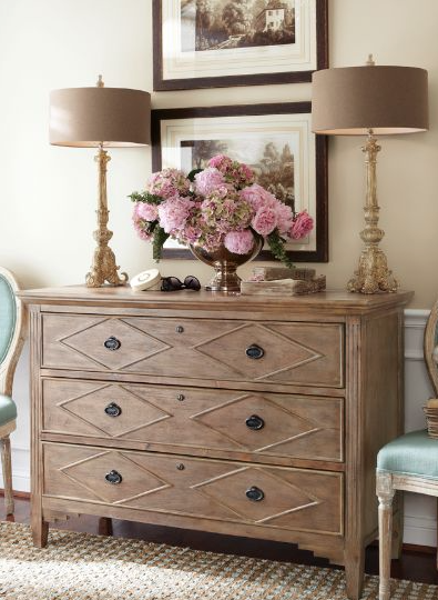 nora three drawer console
