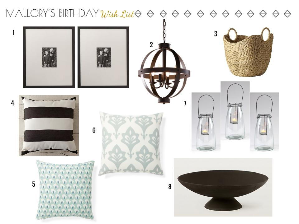 birthday wish list home decor items 3a design studio