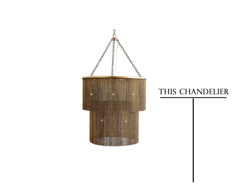 arteriors james chandelier