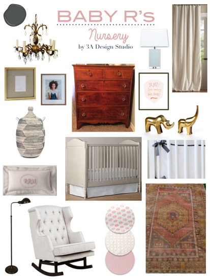 antique chic nursery mood board 3a design studio
