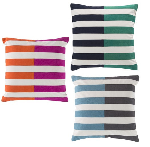 Sky Iris, Catalina Stripe Pillows