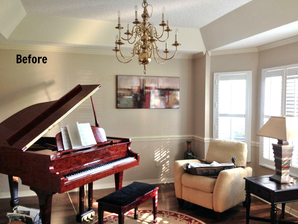 Before And After Piano Room 3a Design Studio