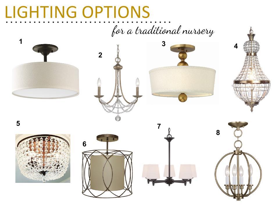 Traditional Nursery Lighting Options
