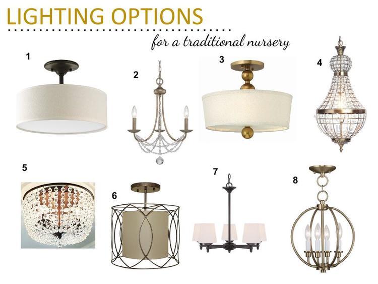 Traditional Nursery Lighting Options  3A DESIGN STUDIO