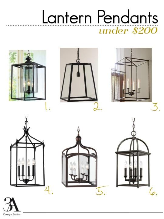 Foyer Lighting Lantern Style : Six stylish lantern pendants that won t break the bank