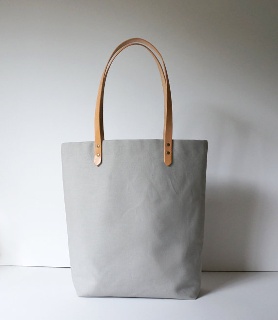 Gray Tote-  Umbrella Collective  $70