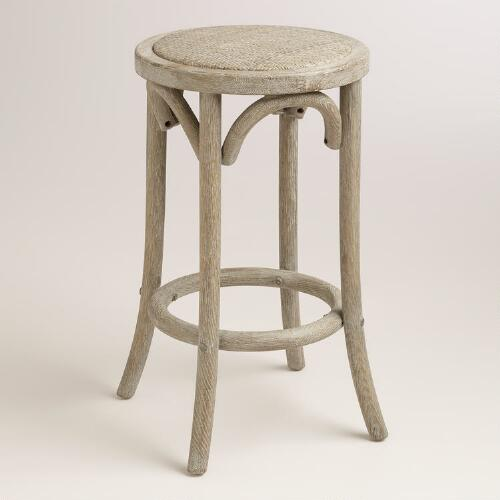 Syena Rattan Stool - World Market  $120