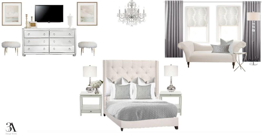 soft glam bedroom design