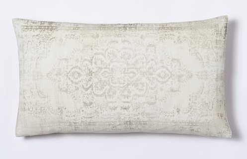 velvet arabesque pillow west elm
